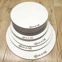 Подложка кондитерская из фанеры круглая под торт диаметр 15 см