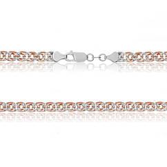 Серебряная цепь с позолотой MAZZARINI JEWELRY 55 см 813А 4 55, КОД: 692980