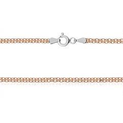 Серебряная цепь с позолотой MAZZARINI JEWELRY 45 см 816А 2 45, КОД: 693001