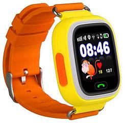 Детские часы с GPS Smart Baby Watch Q90S Оранжевые nri-2217, КОД: 359613