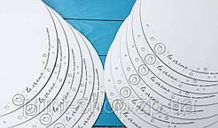 Подложка круглая под торт с логотипом 35 см ДВП усиленное