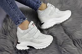 Кроссовки женские Shoes Darcy на танкетке размер 40 Серые АМ-1168 40, КОД: 1074177