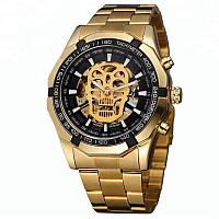 Мужские механические часы Winner Skeleton Gold MG08041942-1, КОД: 1057845