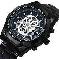 Мужские механические часы Winner Skeleton Black MG08041941-1, КОД: 1057895