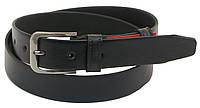 Кожаный ремень Skipper 110-130 x 3.3 см Черный 1068-33, КОД: 390065