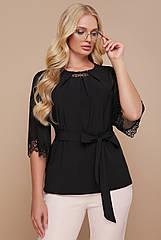 Блуза GLEM Карла-Б XL Черный GLM-bl00036, КОД: 712229