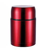 Термос Bergner Ланч-бокс 750 мл с клапаном давления Красный psgBG-6024, КОД: 945515