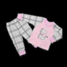 Пижама для девочки Dexters Котенок 26 Серо-розовый d9031, КОД: 1058915