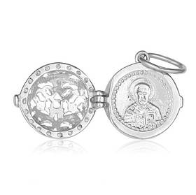 Серебряная ладанка MAZZARINI JEWELRY родированая с эффектом белого золота П2Ф 208, КОД: 215929