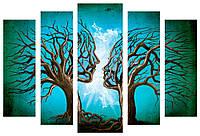 Модульная картина Декор Карпаты 120х80 см Деревья M5-630-x5, КОД: 184147