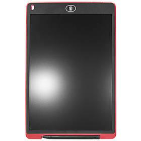 Графический планшет Lesko LCD Writing Tablet 12 для рисования с стилусом и кнопкой сохранения Red, КОД: 1073656