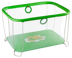 Манеж игровой KinderBox с мелкой сеткой Зеленый kms 2, КОД: 369342