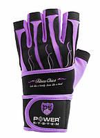 Перчатки для фитнеса и тяжелой атлетики Power System Fitness Chica L Purple PS-2710LPurple, КОД: 977476