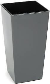 Кашпо LAMELA Финезия 57 х 30 см Серый 000002590, КОД: 358436