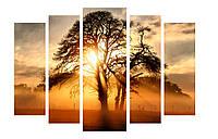 Модульная картина Декор Карпаты 120х80 см Дерево M5-52, КОД: 184240