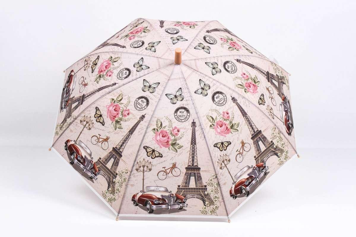 Зонт детский Париж Бежевый LA-RST0402, КОД: 972811
