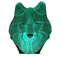 Ночник 3D Kronos Top Волк stet1268 L317, КОД: 943733
