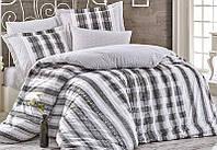 Комплект постельного белья Hobby 4700 Евро Поплин 200х220 см Серый psgSA-4700, КОД: 944355