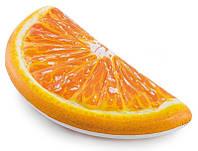Матрас надувной Intex Долька апельсина 178 x 85 см Оранжевый int58763, КОД: 1033564