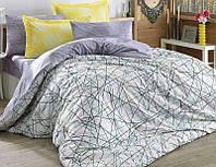 Комплект постельного белья Hobby 4710 Евро Поплин 200х220 см Сиреневый psgSA-4710, КОД: 944361