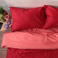 Комплект постельного белья Хлопковые Традиции Евро 200x220 Оранжево-красный PF047евро, КОД: 740679