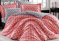Комплект постельного белья Hobby 4845 Евро Поплин 200х220 см Красный psgSA-4845, КОД: 944339