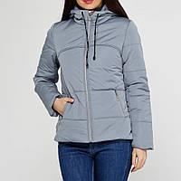 Женская куртка демисезонная с капюшоном OXI 48 Серый 1t360548, КОД: 724181