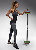 Женский костюм для фитнеса Bas Bleu Escape S Черно-серый bb0137, КОД: 951466