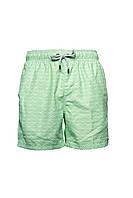 Мужские пляжные шорты IslandHaze Rhombus S Зеленый с белым isl0026, КОД: 1048782