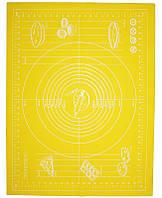 Силиконовый противень-коврик с разметкой 51х67см Желтый HH-668-1psg, КОД: 175806