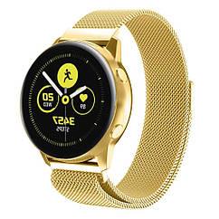 Ремешок BeWatch для смарт-часов Samsung Galaxy Watch Active Золотистый 1010228, КОД: 977015