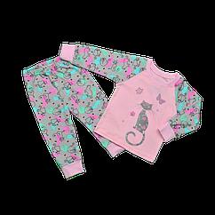 Пижама для девочки Dexters Яркие коты 30 Разноцветный d9053, КОД: 1058903