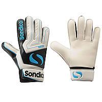 Вратарские перчатки Sondico Match Goalkeeper Gloves Junior 2 Черный-Белый-Синий 832015, КОД: 979753