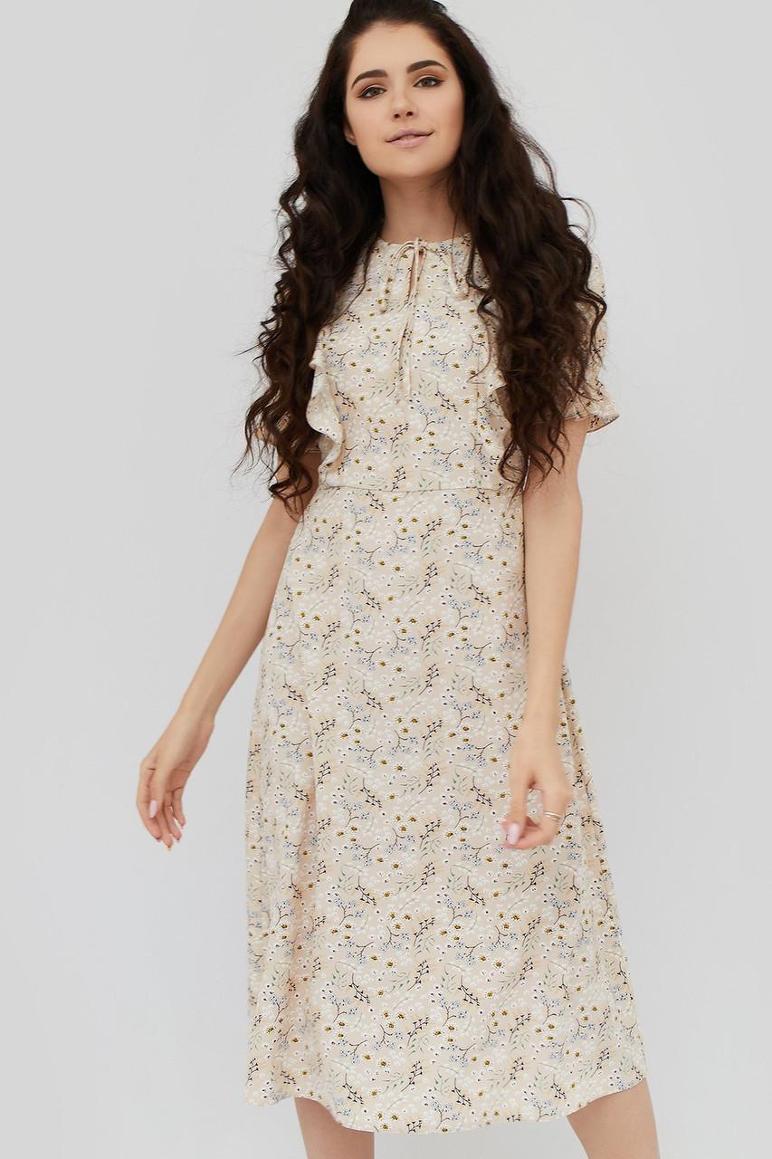 36a930286c5b1 Платье CARDO ANNIE L48 Песочный CRD1904-0401-L0, КОД: 1076417 - Интернет