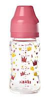 Стеклянная бутылочка с широким горлышком Beaba 240 мл Розовый 911654, КОД: 960366