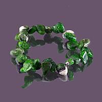 Браслет sherl хромдиопсид Зеленый бр-хрм-004, КОД: 392608
