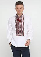 Вышиванка с двухцветным орнаментом УкрМода 50 р Белая chsv-33-01-50, КОД: 1027433