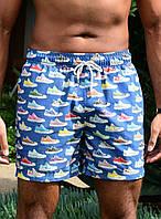 Шорты пляжные IslandHaze Retro Sneaker L Синий isl0018, КОД: 1024519
