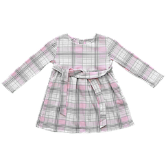 Платье Dexters Клеточка 110 см Серо-розовый d9001-3, КОД: 1081673