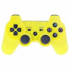 Беспроводной геймпад Dualshock 3 PlayStation Bluetooth PS3 Желтый hubYeGk19692, КОД: 1076059