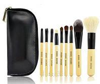 Набор 9 кистей для макияжа в косметичке BOBBI BROWN bnnhll2007, КОД: 975358