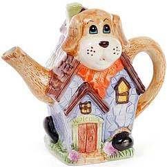 Чайник заварочный Bona Домик в деревне Собака 750 мл керамический BD-590-171psg, КОД: 295875