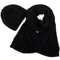Набор шапка, шарф SVTR 1 Черный 3-й комплект, КОД: 186416