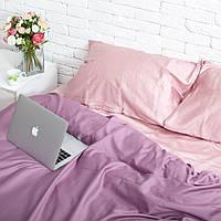 Комплект постельного белья Хлопковые Традиции семейный 200x220 Розовый с фиолетовым SE07семья, КОД: 740642