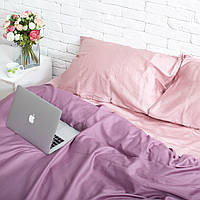 Комплект постельного белья Хлопковые Традиции Двухспальный 175x215 Фиолетово-розовый, КОД: 740726