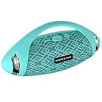 Портативная Bluetooth колонка Hopestar H37 с влагозащитой Green USB FM FL-387, КОД: 1083821