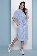 Платье-рубашка GLEM Дарья к р Голубой XL GLM-pl00266, КОД: 1079534