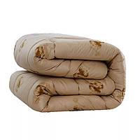 Одеяло CamelWool Верблюжья шерсть 200x220 см Коричневое CR-47, КОД: 353299