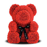 Мягкая игрушка Bear Мишка из роз Красный 40 см 37223, КОД: 984619