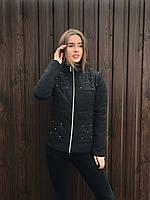 Куртка на молнии женская весенняя OXI 44 Черный WKL-1.30-22, КОД: 717657